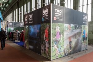 Messestand mit Stoffpanels
