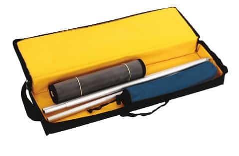 Expolinc 4 Brochure - 4 Brochure mit einen Fuß, Taschennetz, Stützstab und Transporttasche.
