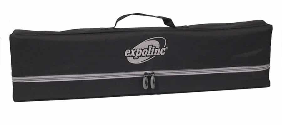 Expolinc Roll Up Classic - Verbinden Sie für den Transport Lampen- und Standardtasche miteinander.
