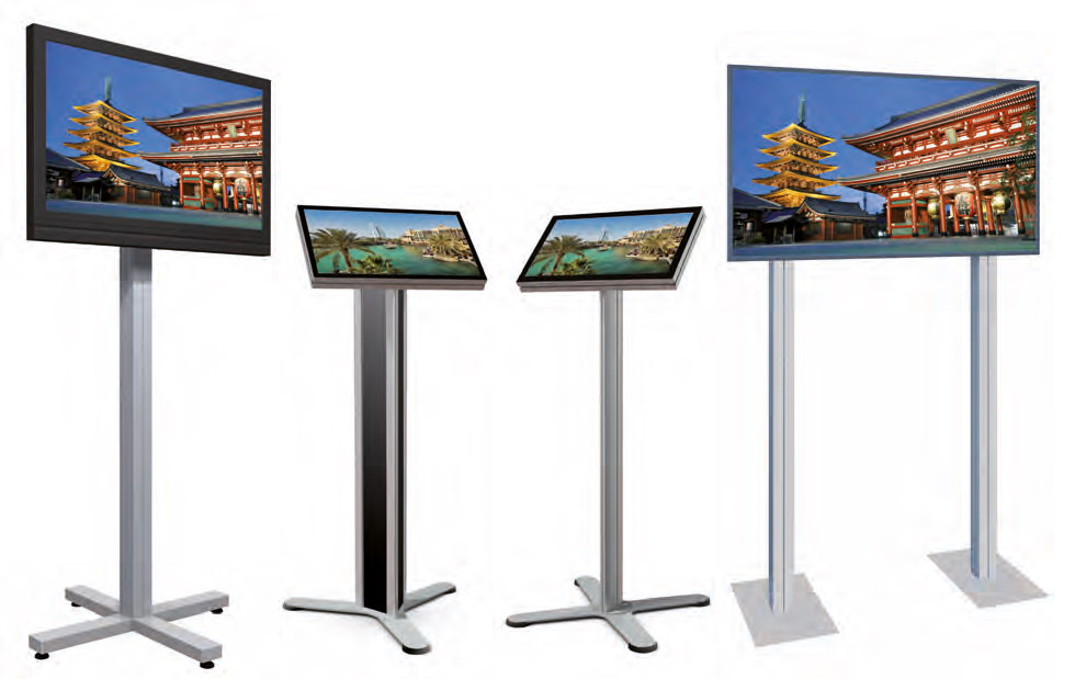 Octanorm Monitoranwendungen - Modellbeispiel: VA 5514 mit Bildschirm, R 01 mit Monitor, K 01 mit Monitor, VA 5524 mit Bildschirm