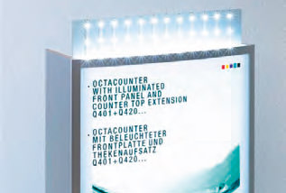 Octanorm Octacounter - Grund-Set, beleuchtet Q 401.31/LED