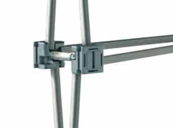 Octanorm Vario D400 Fester Halt durch Aluminiumrohre und Verbinder