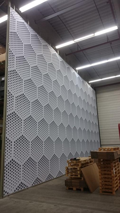 Meysel Druck Großformat Large format Textildruck Frame Raumteiler Stoff